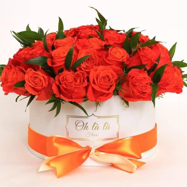 Roses Chapeau - boxy, donáška kvetov Bratislava
