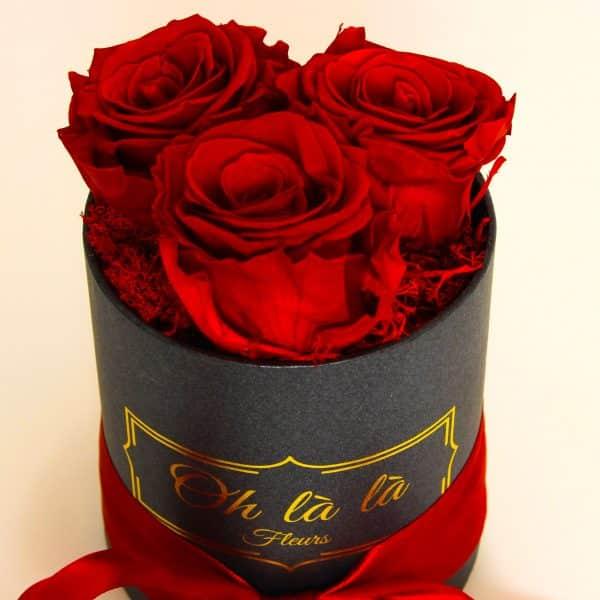 Malý box 3ks Éternelle rose s vôňou záhradných ruží - do 2 hod. - do-2-hodin, donáška kvetov Bratislava