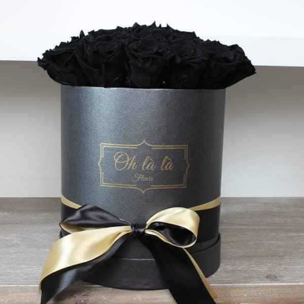 Stredný box Éternelle rose s vôňou záhradných ruží - do 2 hod. - do-2-hodin, donáška kvetov Bratislava
