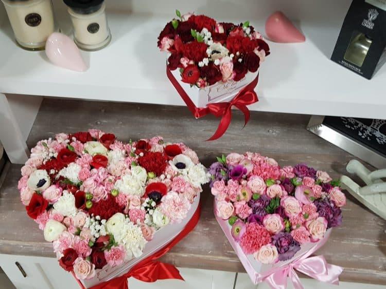 Srdiečkový kvetinový box na želanie - do 2 hod. - do-2-hodin, donáška kvetov Bratislava