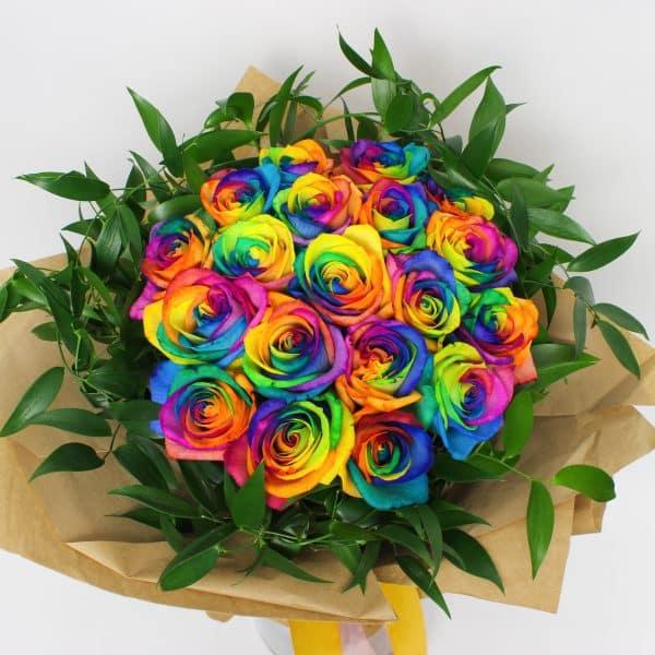 Bouquet de roses colorées - kytice, donáška kvetov Bratislava