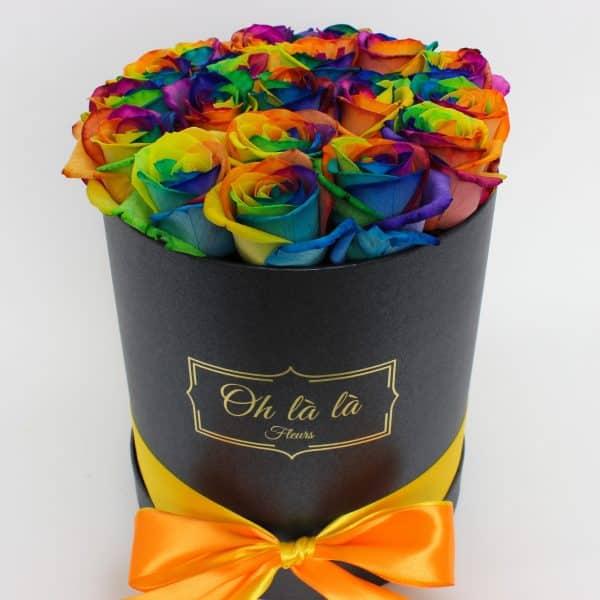 Cylindre roses colorées - boxy, donáška kvetov Bratislava
