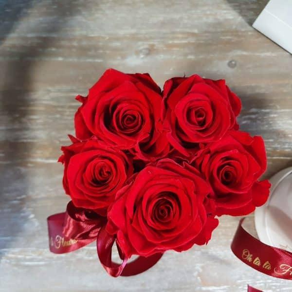 Malý box 5ks Éternelle rose s vôňou záhradných ruží - do 2 hod. - do-2-hodin, donáška kvetov Bratislava