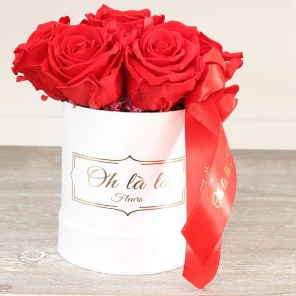 Malý box 7ks Éternelle rose s vôňou záhradných ruží - trvacne-ruze, donáška kvetov Bratislava